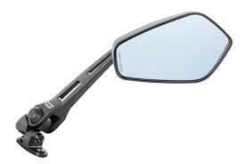 タナックス (TANAX) バイクミラー ナポレオン カウリングミラー6B ブラック 【ブルー鏡】 左右共通 (ロングステータイプ) AEX6B (1本入り)