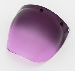 EXTRA SHIELD(エキストラシールド) バブルシールド トーンパープル/シルバーミラー グラデーションミラーシールドEX035500