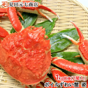 【送料無料】簡単調理 ボイル済ずわい蟹2尾(1Kg前後) かに カニ ずわい ズワイ かに 通販 かに かに鍋