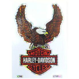 HARLEY-DAVIDSON ハーレーダビッドソン 1980-90年代 ビンテージ デッドストック ホログラムステッカー デカール (A3402) イーグル&バーアンドシールド