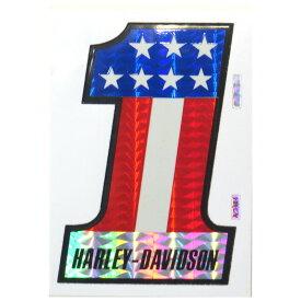 HARLEY-DAVIDSON ハーレーダビッドソン 1980-90年代 ビンテージ デッドストック ホログラムステッカー デカール (A3404) H-D #1 No.1