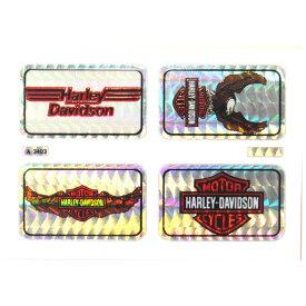 HARLEY-DAVIDSON ハーレーダビッドソン 1980-90年代 ビンテージ デッドストック ホログラムステッカー デカール (A3403) 4set