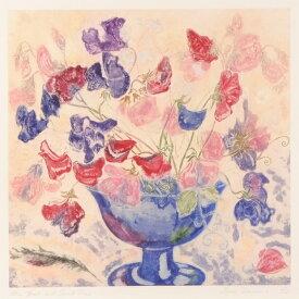 【作家名】ジェニー・デヴェラー 【作品名】ブルーの花瓶とスイートピー
