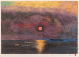 【作家名】加藤東一 【作品名】朝陽の海