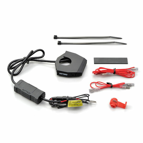 【あす楽対応】デイトナ DAYTONA 98438 バイク専用電源 スレンダーUSB2ポート 2.4A×2 USB電源