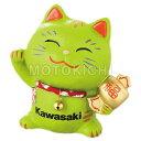【あす楽対応】KAWASAKI純正 J7006-0031 幸せ招き猫 カワサキ 貯金箱 専用座布団付き