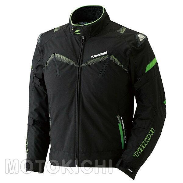 カワサキ アームドオールシーズンジャケット ブラック/グリーン J8001-2728 J8001-2729 J8001-2730 J8001-2731 M〜3Lサイズ Kawasaki×タイチ