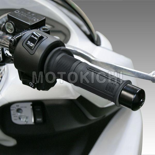 【入荷待ち】キジマ (KIJIMA) 304-8203 ホットグリップヒーター (GH08) ショートサイズ120mm 5段階調整機能付き ブッシュ式 スクーター〜大型バイクまで 汎用品 22.2mmハンドル用