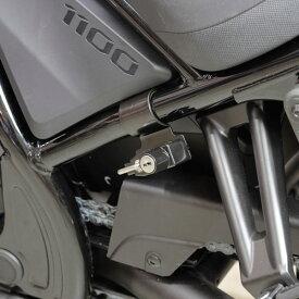 キジマ KIJIMA 303-1608 ヘルメットロック ブラック Φ32 パイプクランプ ホンダ レブル1100