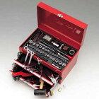 キジマHD-08316インチ・ミリ工具セット150ピースバイク整備用工具箱付工具セット(国産・ハーレー・自動車・アメ車)