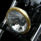 キジマHD-01553ヘッドライトベゼルバイザースタイル/ブラック