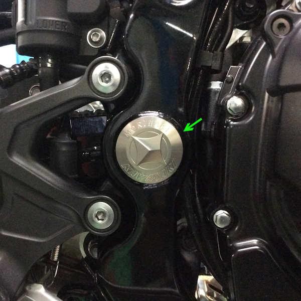 モリワキ MORIWAKI 09085-20250-00 フレームホールプラグ 左右セット FRAME HOLE PLUG チタンゴールド Z900RS