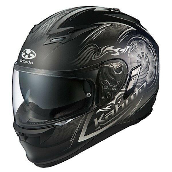 OGKカブト KAMUI2 BLAZE フラットブラックシルバー フルフェイスヘルメット カムイ2 ブレイズ