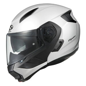 【メーカー取寄せ/入荷未定】RYUKI OGKカブト リュウキ ホワイトメタリック システムヘルメット
