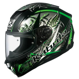 OGKカブト AEROBLADE5 WIND フラットブラックグリーン ウインド フルフェイスヘルメット XS〜XXLサイズ エアロブレード5