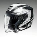 SHOEI J-FORCE4 BRILLER ジェットヘルメット TC-6 ホワイト/ブラック ショウエイ