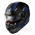 【入荷待ち】WINS A-FORCE RS FLASH フラッシュ アルマイトブルー Lサイズ グラフィックモデル インナーシード付き カーボン フルフェイスヘルメット