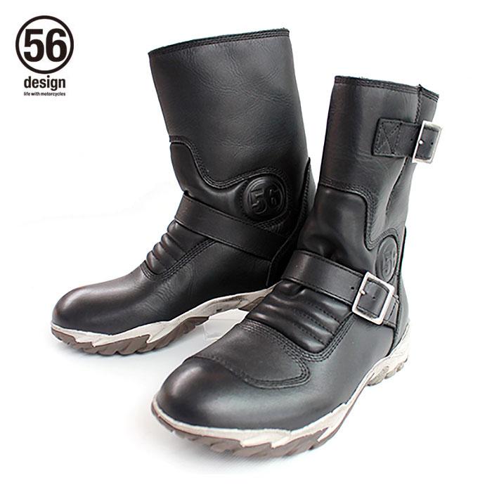 【56デザイン/56design】 56design Leather Riding Boots ライディングブーツ バイク ツーリング【プレゼント ギフト】
