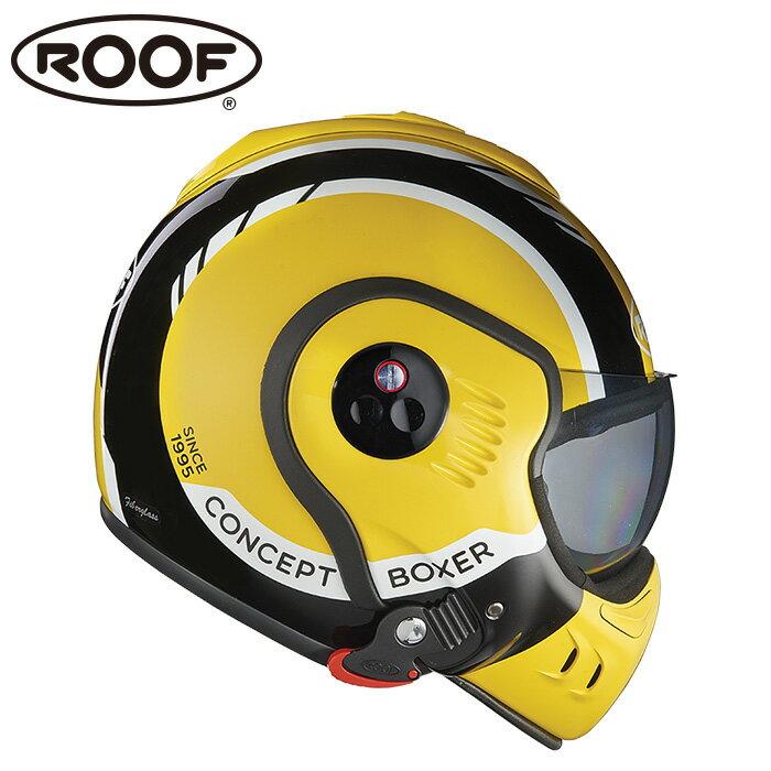 【ルーフ/ROOF】BOXER V8 LP20 ボクサー ブラック×イエロー×ホワイト システムヘルメット バイク【プレゼント ギフト】