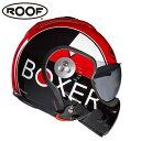 【ルーフ/ROOF】BOXER V8 GRAFIC ボクサー グラフィック ブラック×レッド システムヘルメット バイク ギフト【送料無料】 【O】【2】【S】