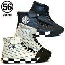 ポイント2倍【56デザイン/56design】56design High Cut Riding Shoes PL ライディングシューズ バイク ツーリング スニーカータイプ ハイカット