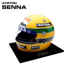 予約/受注発注【アイルトン セナ/Ayrton Senna】1988 アイルトン・セナ レプリカヘルメット 1/1スケール Sid Mosca製 ハンドメイド F1 観賞用