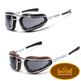 【baruffaldi/バルファルディ】EASY RIDER ゴーグル イージー ライダー バイク メタルフレーム 交換レンズ付属 ビンテージスタイル イタリア製