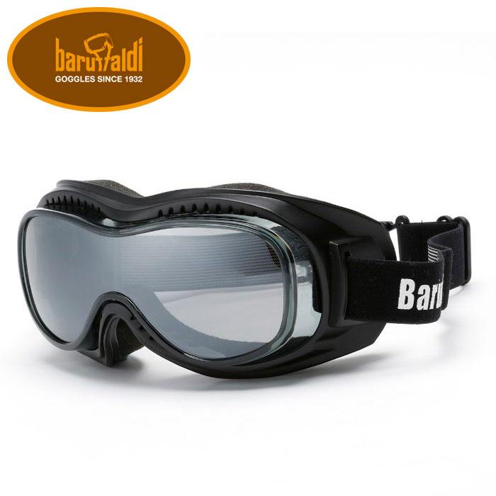 【baruffaldi/バルファルディ】SPEED1 BLACK MASK (スピード1) ゴーグル バイク ビンテージスタイル イタリア製