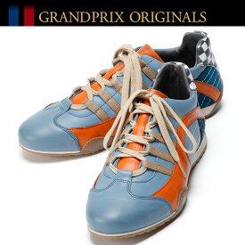 【グランプリ オリジナル/GRANDPRIX ORIGINALS】RACING SNEAKER GULF BLUE スニーカー ガルフ GULFカラードライビングシューズ ハンドメイド
