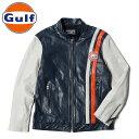 【ガルフ/GULF】ガルフ ファストバック レザー ジャケット レーシングライン 羊革 GULF FASTBACK LEATHER JACKET