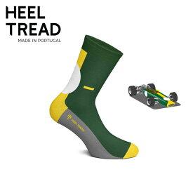【ヒールトレッド/HEEL TREAD】49 靴下 ソックス ロータス LOTUS チームロータス チャップマン ジム クラーク 葉巻 レトロ フォーミュラ サークルゼッケン ブリティッシュ グリーン F1