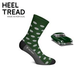 【ヒールトレッド/HEEL TREAD】E-TYPE 靴下 ソックス JAGUAR ジャガー Dタイプ Eタイプ XJR XJS ブリティッシュグリーン オープンカー イギリス車 クラシックカー