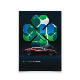 【ユニーク&リミテッド ギャラリー/Unique & Limited Gallery】アルファロメオ ティーポ33 ストラダーレ ALFAROMEO アルファロメオ ティーポ 33 ストラダーレ 4C クワドリフォリオ 四葉のクローバー イタリア車 ポスター