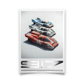 予約11月入荷予定【ユニーク&リミテッド ギャラリー/Unique & Limited Gallery】ポルシェ 917 - ザルツブルグ&マルティニ&ガルフ コレクターズ エディション ポスター ル・マン24時間レースオフィシャルライセンス