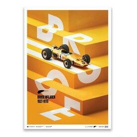 予約11月入荷予定【ユニーク&リミテッド ギャラリー/Unique & Limited Gallery】McLaren M7A × ブルース・マクラーレン 1968年 スパ・フランコルシャン ポスター 世界限定500枚