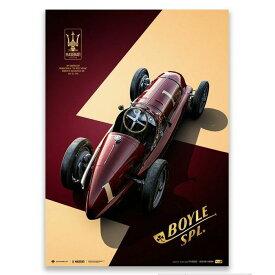 予約11月入荷予定【ユニーク&リミテッド ギャラリー/Unique & Limited Gallery】Maserati 8CTF The Boyle Special 1940年 インディアナポリス 500マイル レース コレクターズ エディション ポスター 世界限定250枚