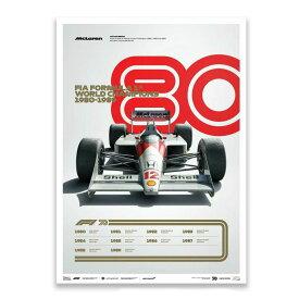 予約11月入荷予定【ユニーク&リミテッド ギャラリー/Unique & Limited Gallery】FIA FORMULA 1 1980-1989 リミテッド エディション ポスター マクラーレン オフィシャル ライセンス商品 世界限定1980枚