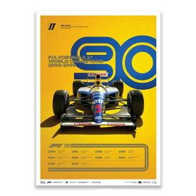 【ユニーク&リミテッド ギャラリー/Unique & Limited Gallery】FIA FORMULA 1 1990-1999 リミテッド エディション ポスター ウィリアムズF1 オフィシャル ライセンス商品 世界限定1990枚