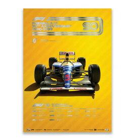 予約11月入荷予定【ユニーク&リミテッド ギャラリー/Unique & Limited Gallery】FIA FORMULA 1 1990-1999 コレクターズ エディション ポスター ウィリアムズF1 オフィシャル ライセンス商品 世界限定700枚