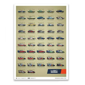 【オートモビリスト/Automobilist】WRC Constructors' Champions 1973-2019 - 47th Anniversary リミテッドエディション ポスター 世界限定1973枚