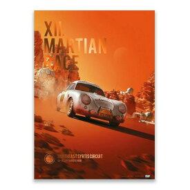 予約11月入荷予定【ユニーク&リミテッド ギャラリー/Unique & Limited Gallery】Porsche 356 SL Future XII. Martian Race 2096 コレクターズ エディション ポスター 世界限定356枚