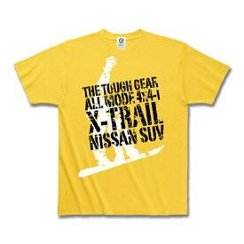 日産カスタムアパレルプロジェクト エクストレイル 「The Tough Gear」 Tシャツ イエロー(メンズ ファッション tシャツ 半袖 かっこいい おしゃれ 夏服 モーターマガジン ティー シャツ 夏物 半そで メンズtシャツ ティーシャツ)