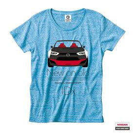 日産カスタムアパレルプロジェクト 半袖Tシャツ IDx フロント フェイス(IDx FRONT FACE)オーセンティックターコイズ(メンズTシャツ 半袖 半そで はんそで トップス おしゃれ かっこいい 春夏 夏服 夏物 お父さん 父の日 ギフト 誕生日プレゼント)
