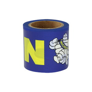 ミシュラン 養生テープ ロゴ ブルー Michelin YOJO tape Logo Blue 241437 ミシュラン タイヤ テープ かわいい マスキングテープ 補修 おしゃれ スーツケース デコレーション DIY リメイク 梱包 MICHELIN フ