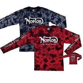 【送料無料/あす楽対応】ノートン(Norton) 袖ビッグロゴ ムラ染め ロンTEE 173N1106