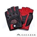 【送料無料】カカザン ドライビンググローブ CACAZAN DDR-071R ブラック レッド