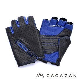 【送料無料】カカザン ドライビンググローブ CACAZAN DDR-051 ブラック ブルー