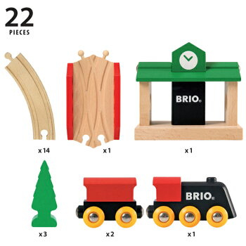 ブリオBRIO木製レールシリーズクラシックレール8の字セット(2歳から)北欧