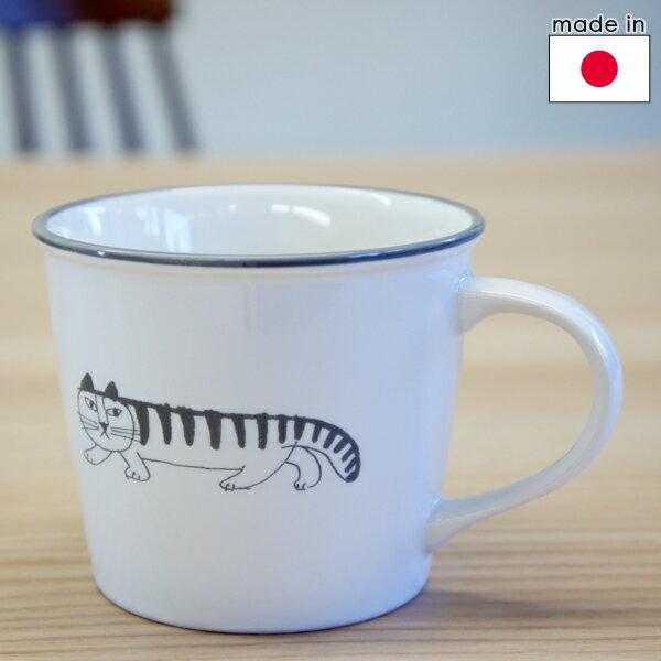 リサラーソン 陶器のマグカップ マイキースケッチ/白【店頭受取も可 吹田】