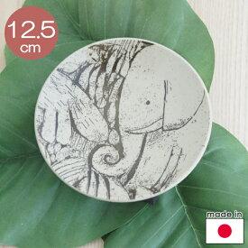 リサラーソン 森と動物の絵皿4寸皿(益子の皿) ゾウ(約12.5cm陶器製)【店頭受取も可 吹田】